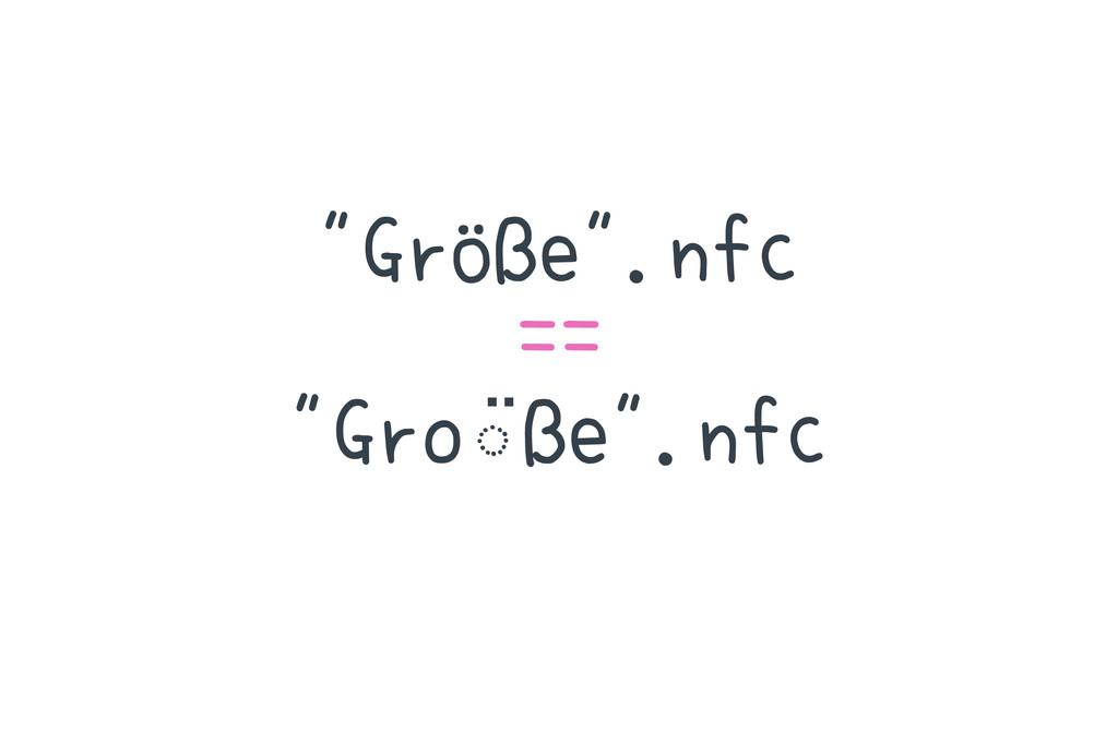 """""""Größe"""".nfc == """"Gro◌ ̈ße"""".nfc"""