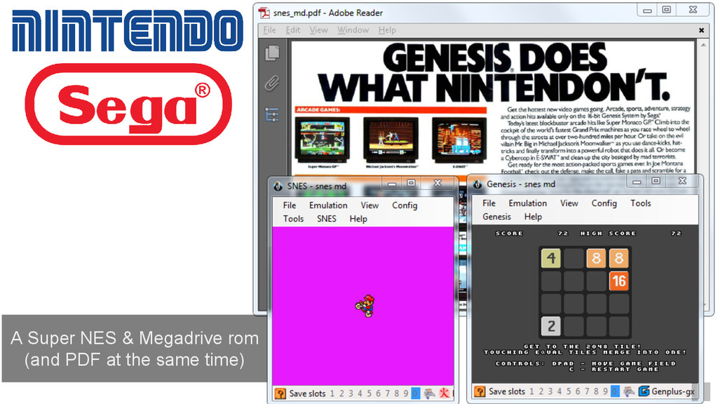 A Super NES & Megadrive rom (and PDF at the sam...