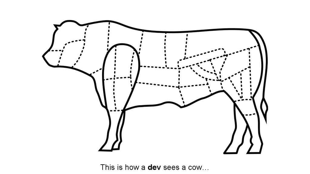 This is how a dev sees a cow…