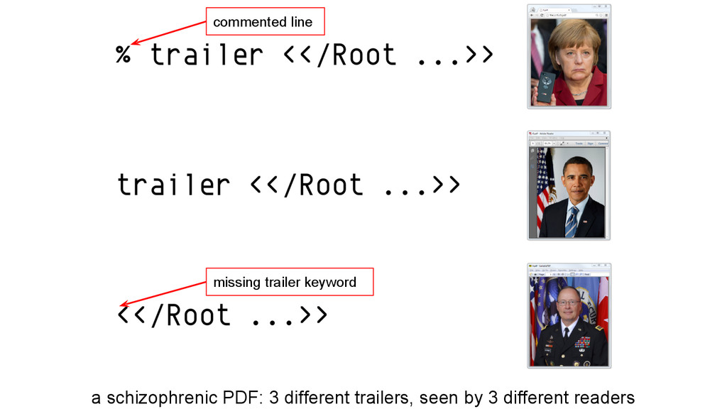 a schizophrenic PDF: 3 different trailers, seen...