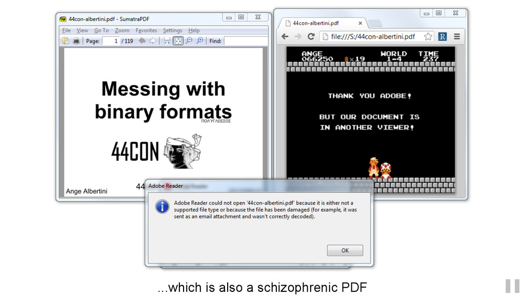 ...which is also a schizophrenic PDF