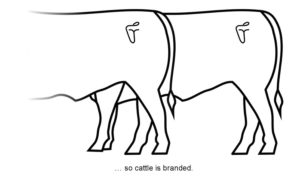… so cattle is branded.