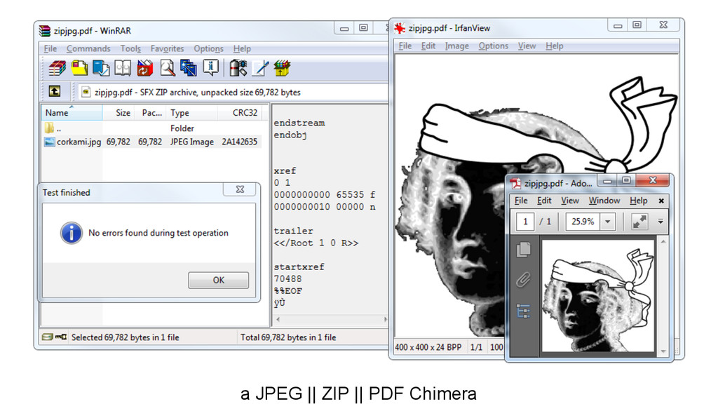 a JPEG    ZIP    PDF Chimera