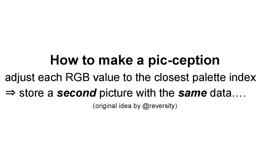 How to make a pic-ception adjust each RGB value...