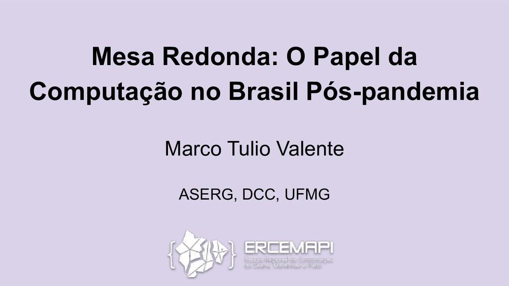 Mesa Redonda: O Papel da Computação no Brasil P...