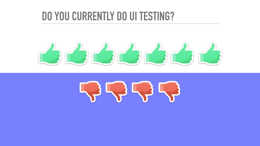 DO YOU CURRENTLY DO UI TESTING?