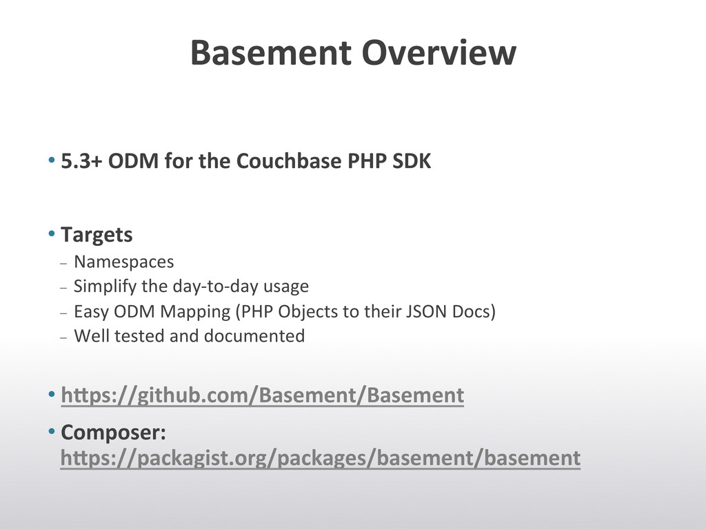 Basement Overview  •5.3+ ODM for...