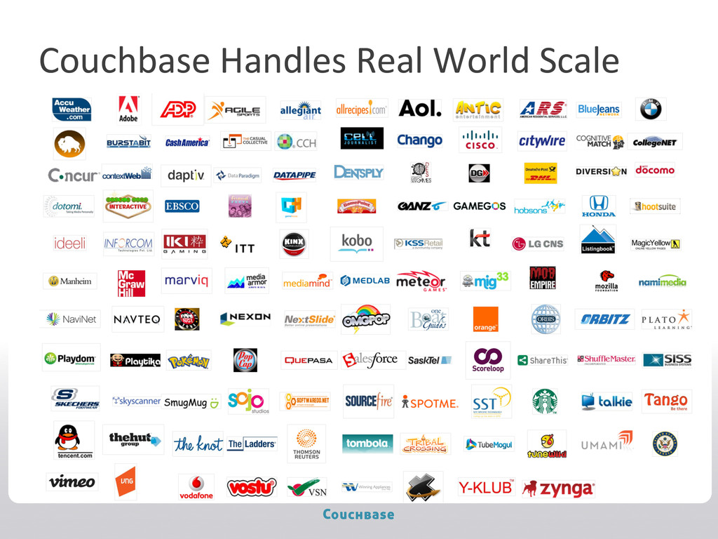 Couchbase Handles Real World Scale...