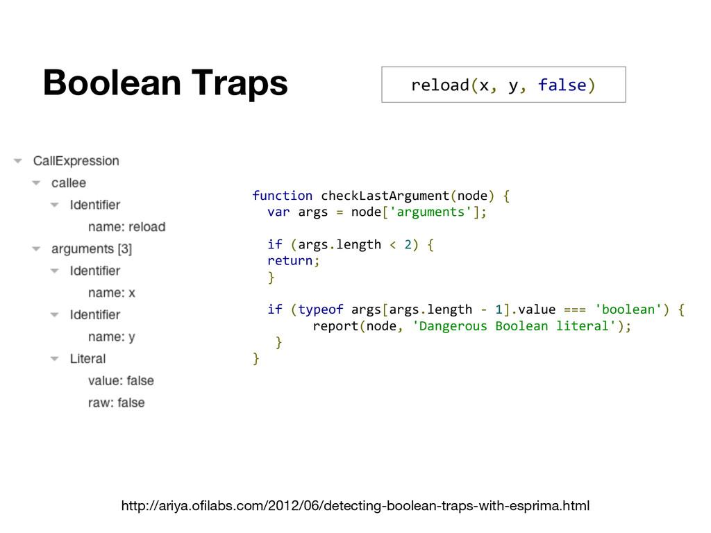 Boolean Traps reload(x, y, false) function chec...