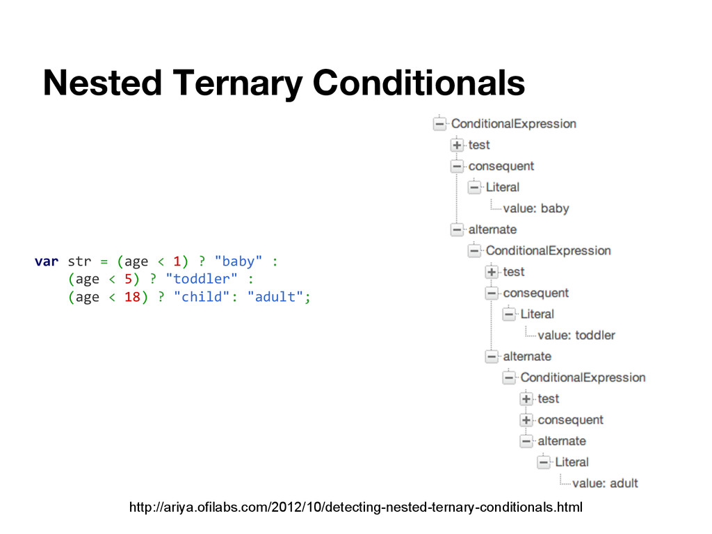 Nested Ternary Conditionals http://ariya.ofilab...
