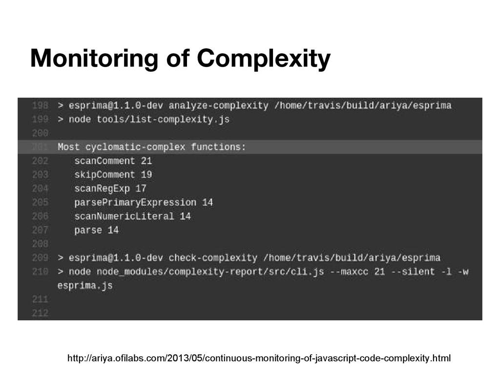 Monitoring of Complexity http://ariya.ofilabs.c...