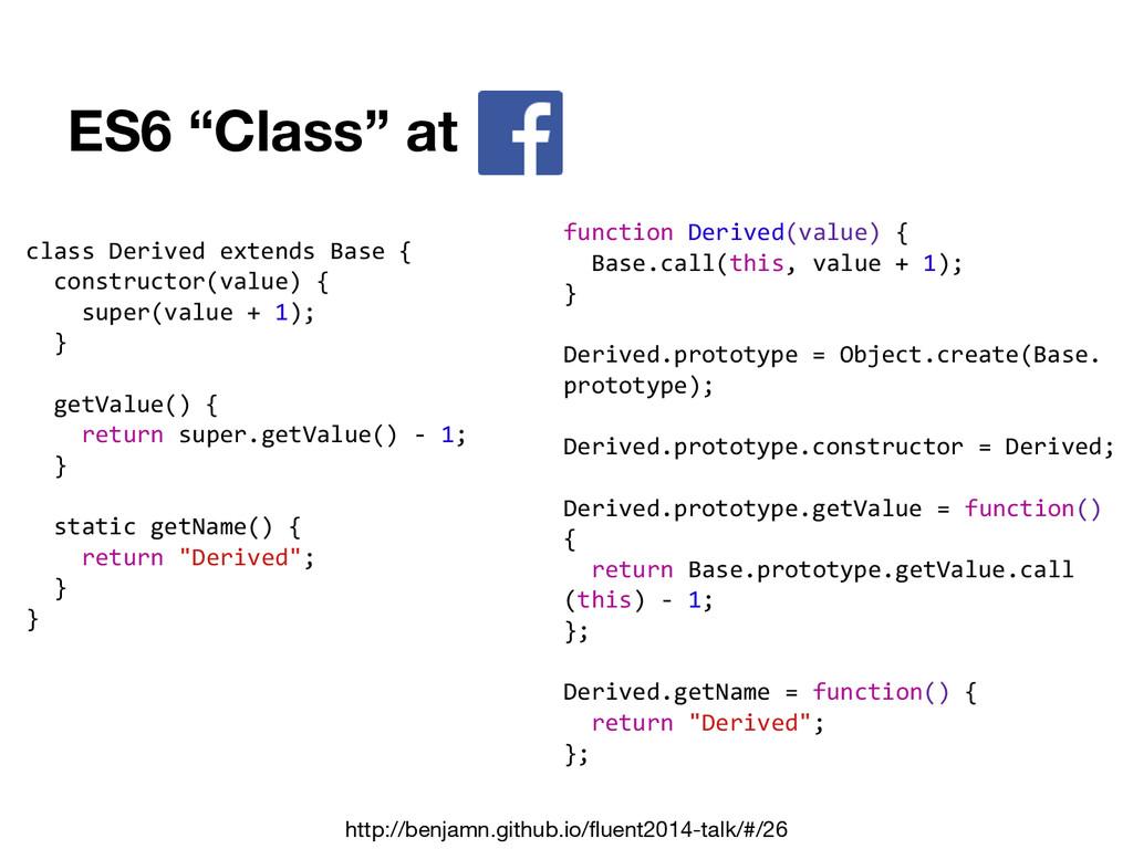 "ES6 ""Class"" at class Derived extends Base { con..."