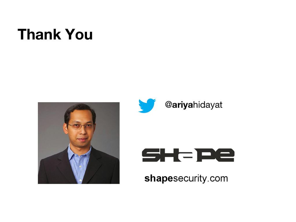 Thank You shapesecurity.com @ariyahidayat