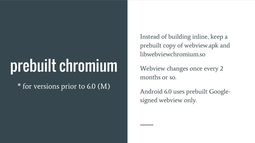 prebuilt chromium * for versions prior to 6.0 (...