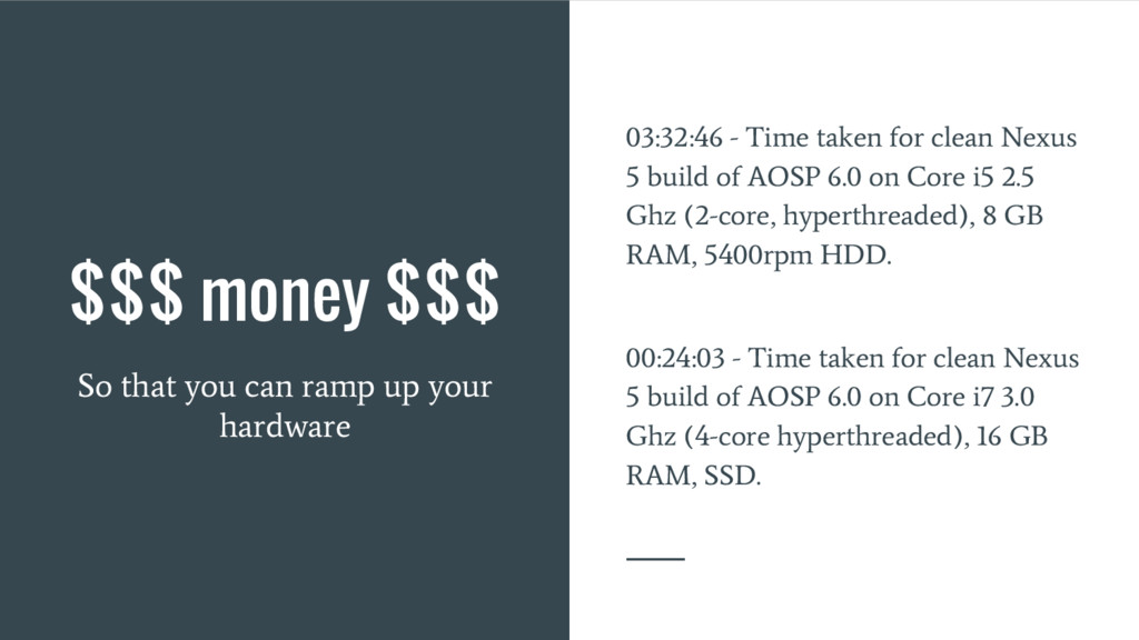 $$$ money $$$ So that you can ramp up your hard...