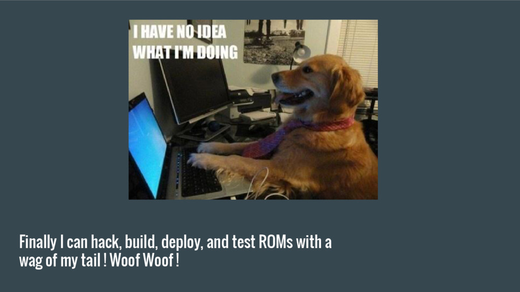 Finally I can hack, build, deploy, and test ROM...