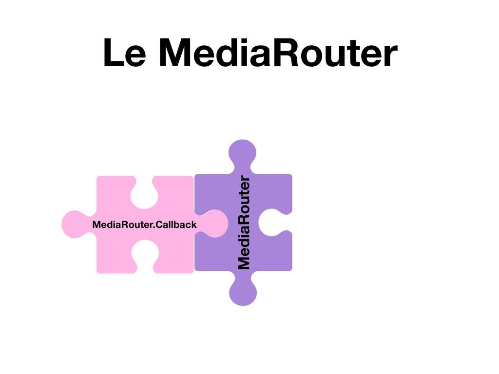 Le MediaRouter MediaRouter MediaRouter.Callback