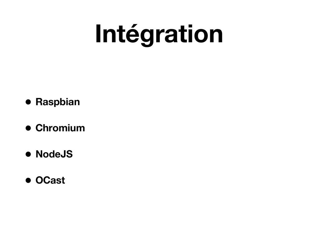 Intégration • Raspbian • Chromium • NodeJS • OC...