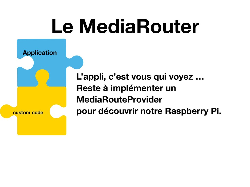 Le MediaRouter MediaRouter MediaRouteButton Med...