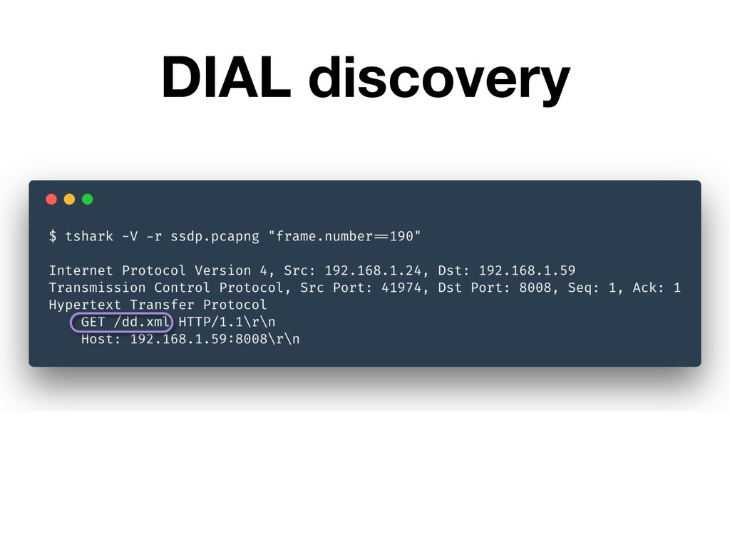 DIAL discovery