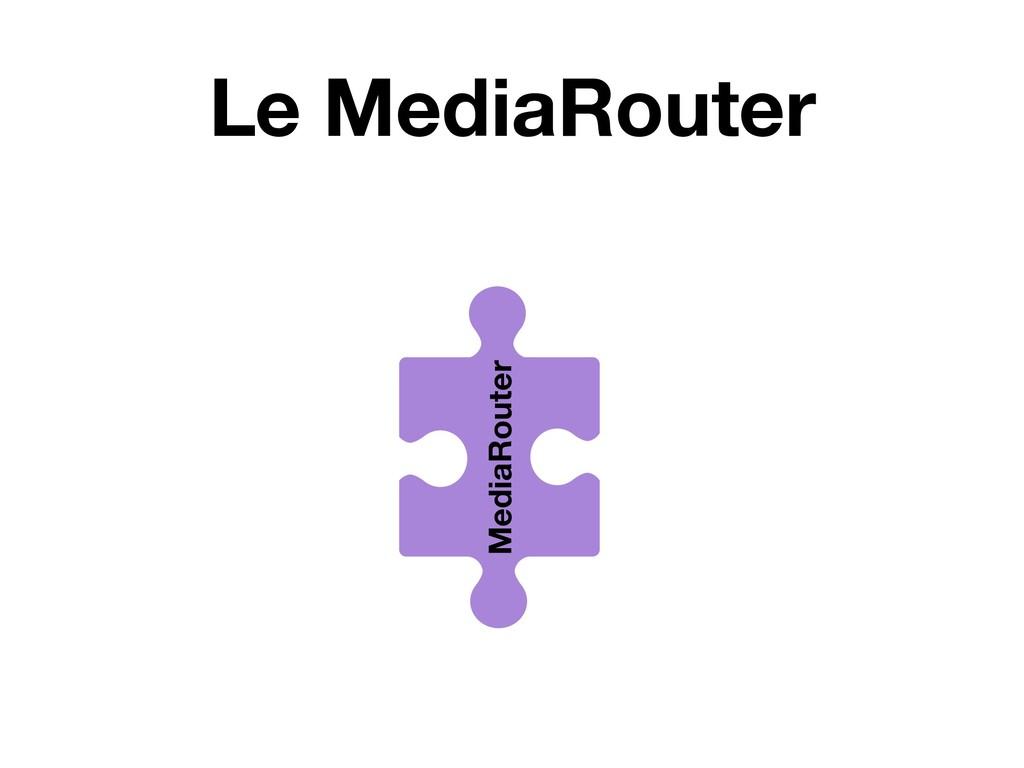 Le MediaRouter MediaRouter