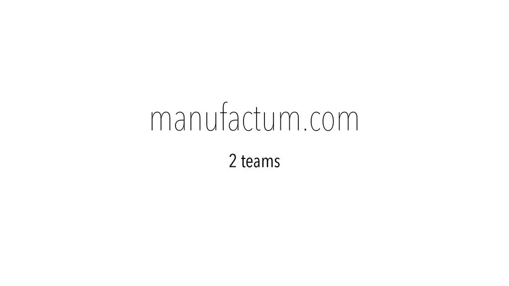 manufactum.com 2 teams