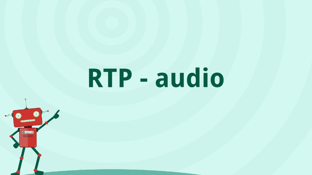 RTP - audio