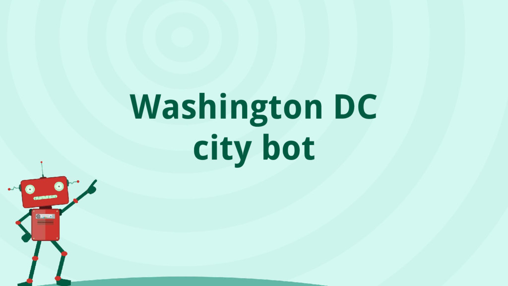 Washington DC city bot