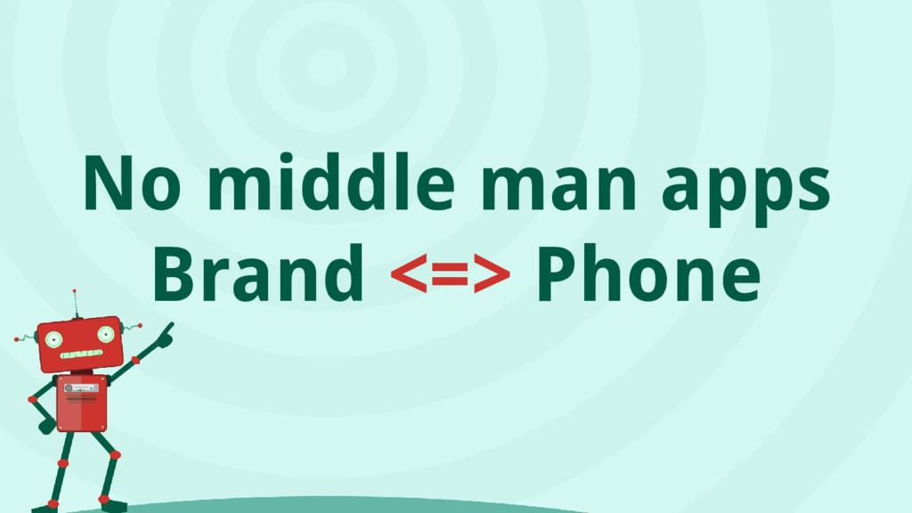 No middle man apps Brand <=> Phone