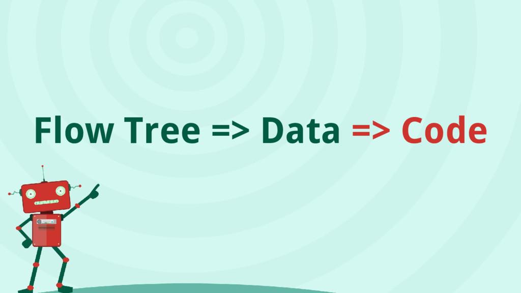 Flow Tree => Data => Code
