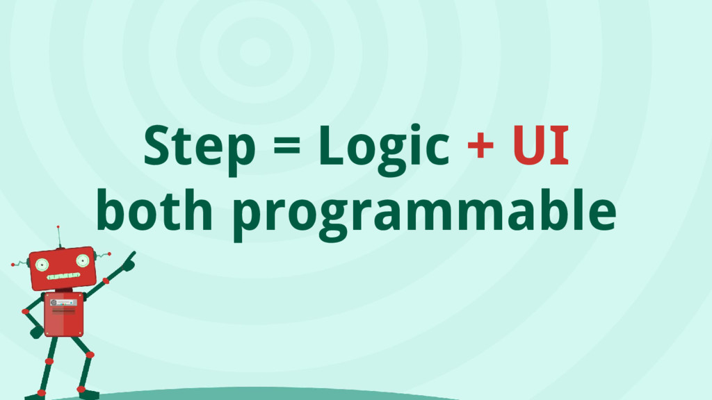 Step = Logic + UI both programmable