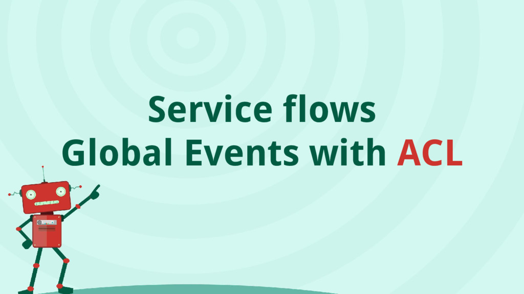 Service flows Global Events with ACL