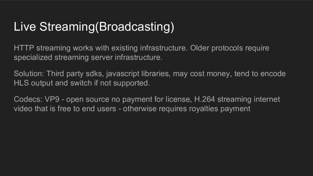 Live Streaming(Broadcasting) HTTP streaming wor...