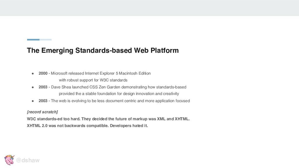 """The Emerging Standards-based Web Platform """" 200..."""
