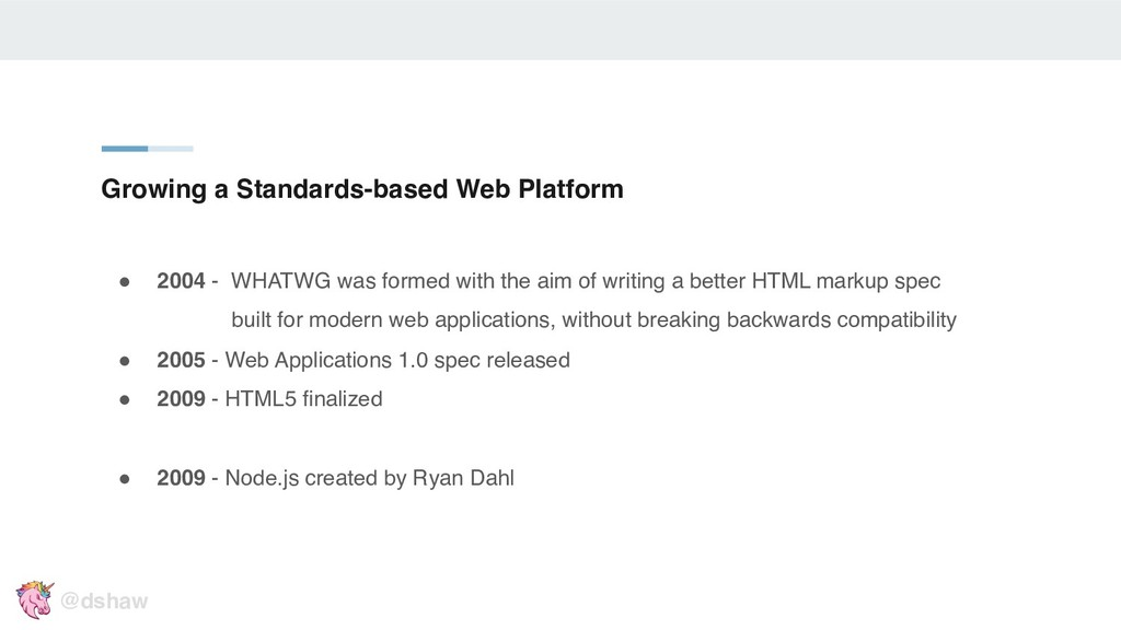 """Growing a Standards-based Web Platform """" 2004 -..."""