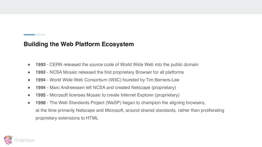 "Building the Web Platform Ecosystem "" 1993 - CE..."