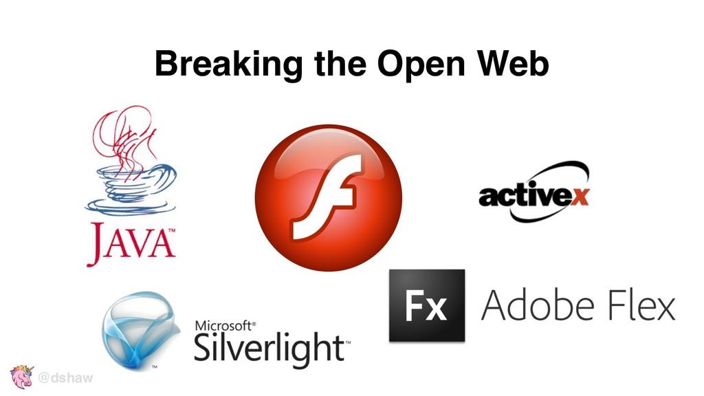 Breaking the Open Web @dshaw
