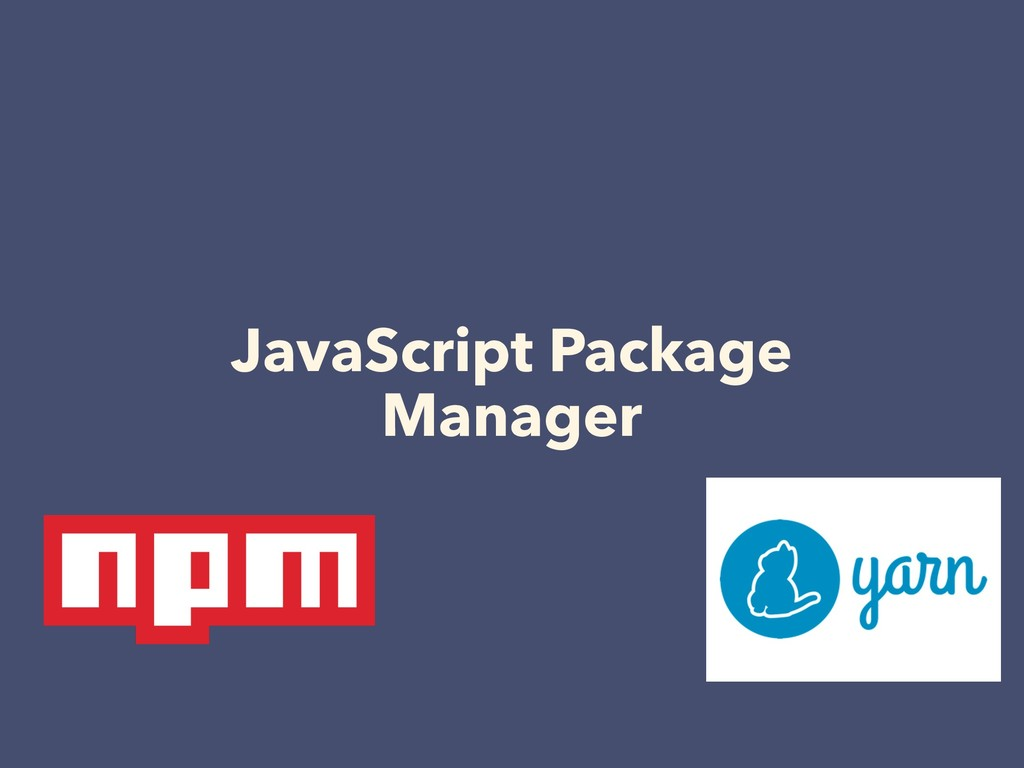 JavaScript Package Manager