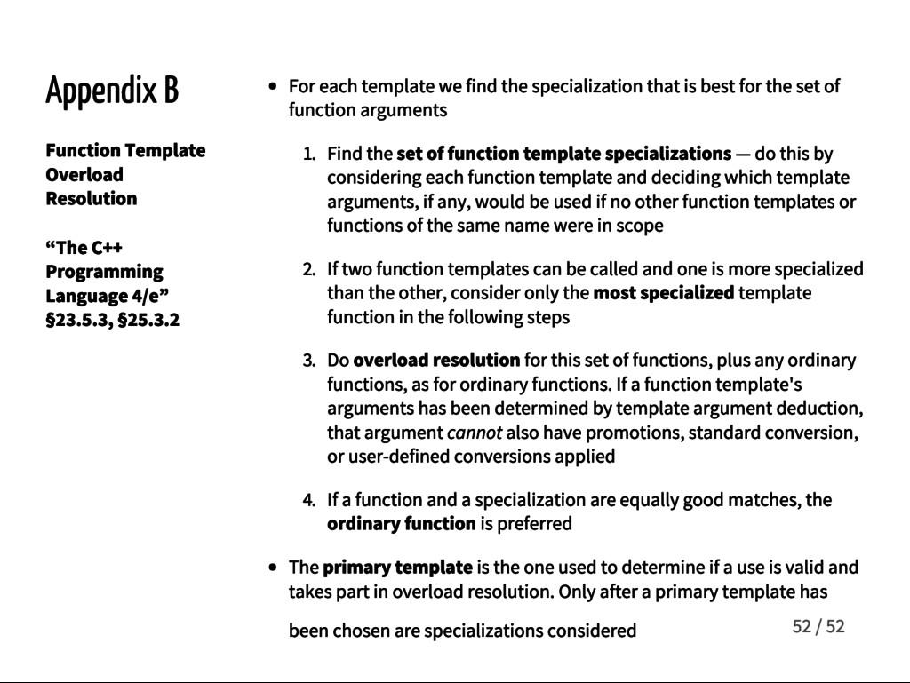 Appendix B Function Template Overload Resolutio...