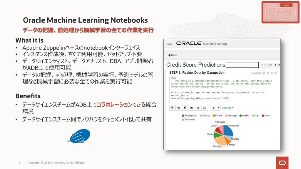Oracle Machine Learning Notebooks What it is • ...