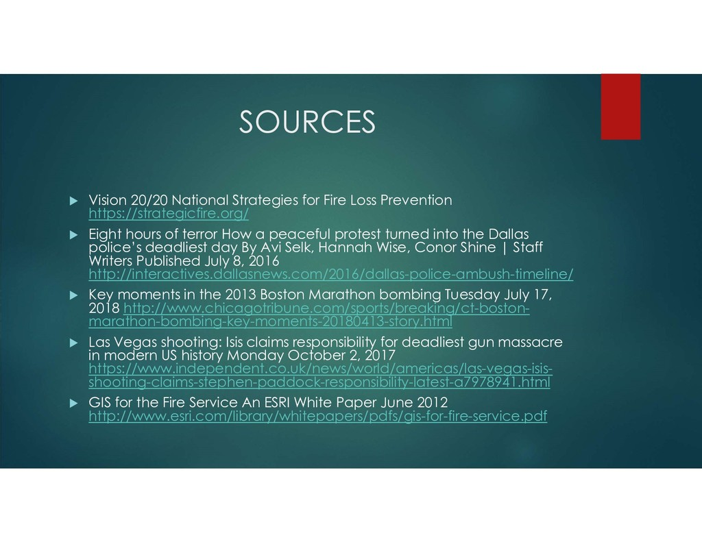SOURCES  Vision 20/20 National Strategies for ...