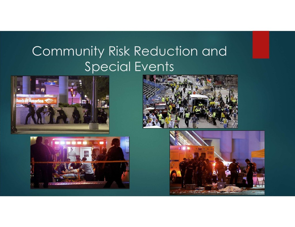 Community Risk Reduction and Special Events