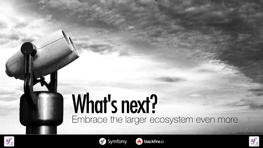 What's next?   Embrace the larger ecosystem eve...