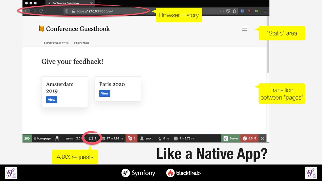Like a Native App? AJAX requests Browser Histor...
