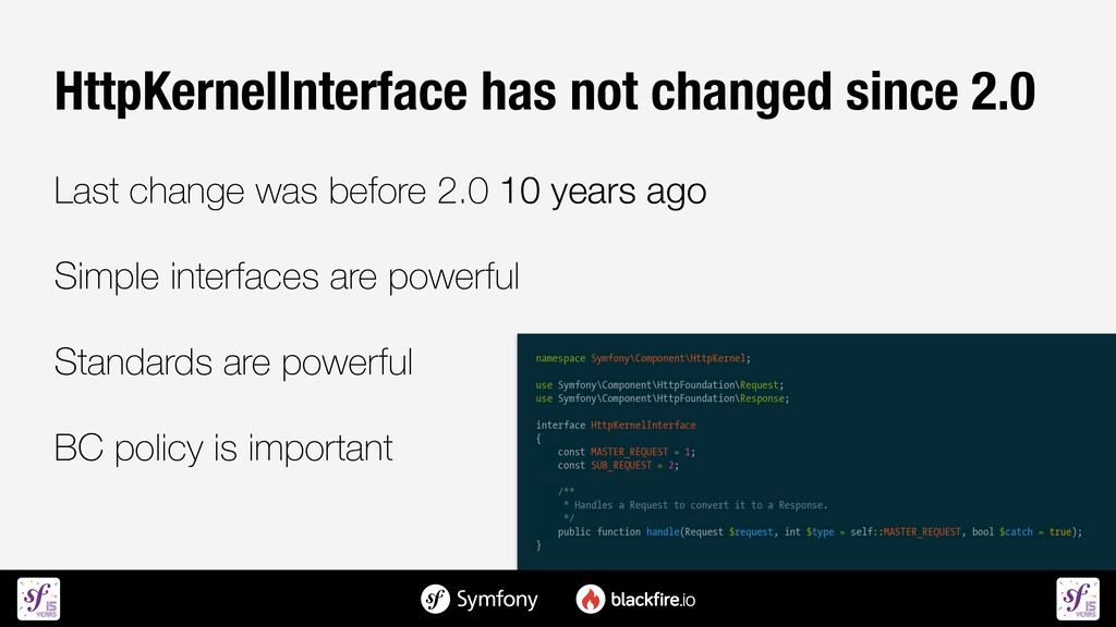 HttpKernelInterface has not changed since 2.0  ...