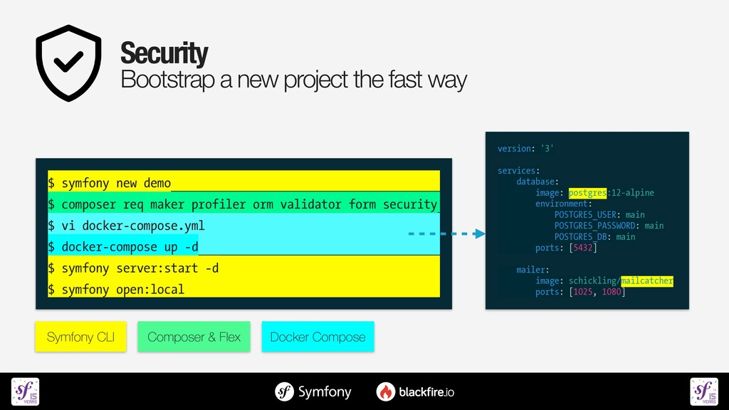 Security   Bootstrap a new project the fast way...