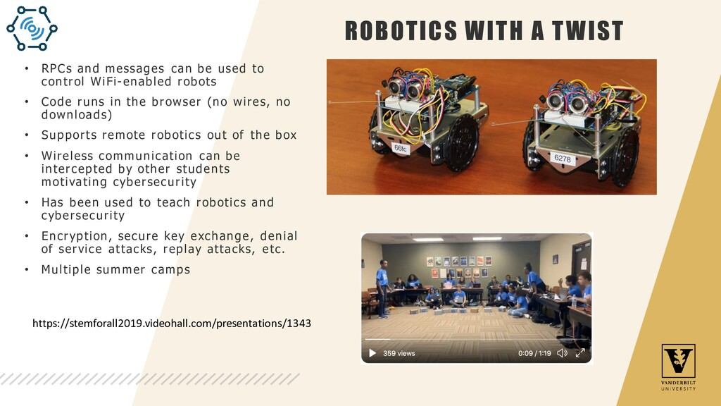 ROBOTICS WITH A TWIST • RPCs and messages can b...