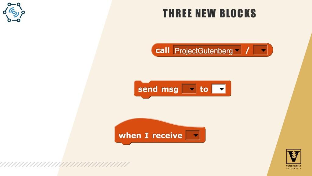 THREE NEW BLOCKS
