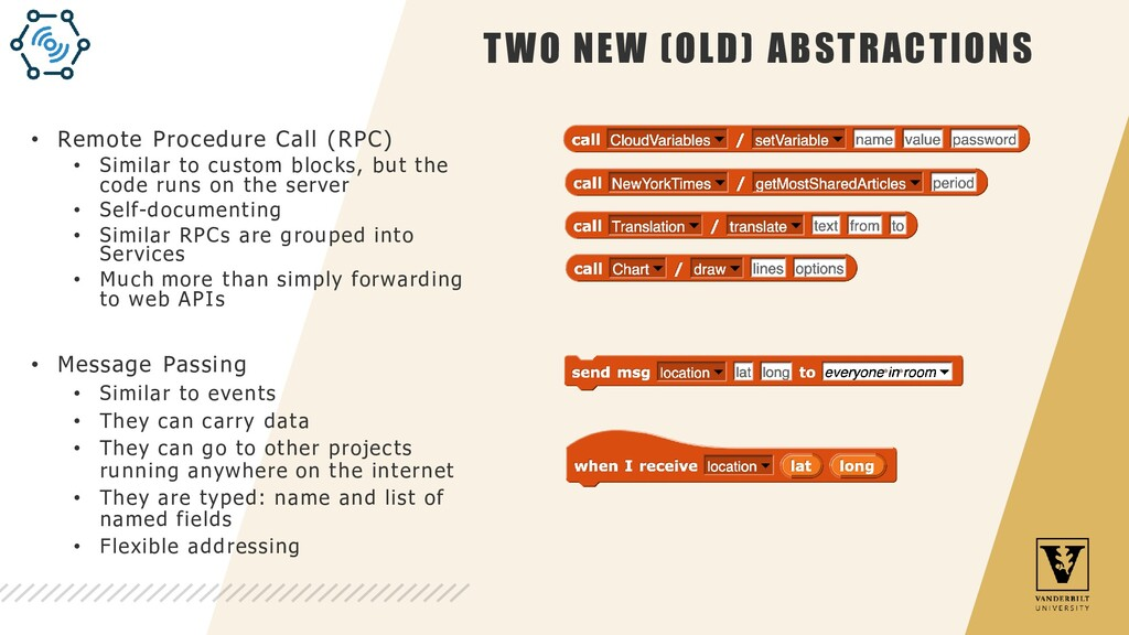 TWO NEW (OLD) ABSTRACTIONS • Remote Procedure C...