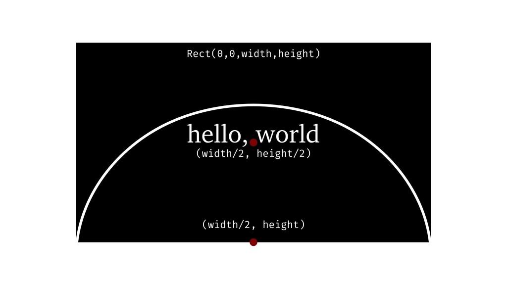 (width/2, height) (width/2, height/2) hello, wo...